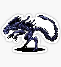 Alien Queen Pixel Art Sticker