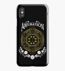 Abjuration - D&D Magic School Series : White iPhone Case/Skin