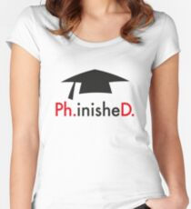 Ph.D. Women's Fitted Scoop T-Shirt