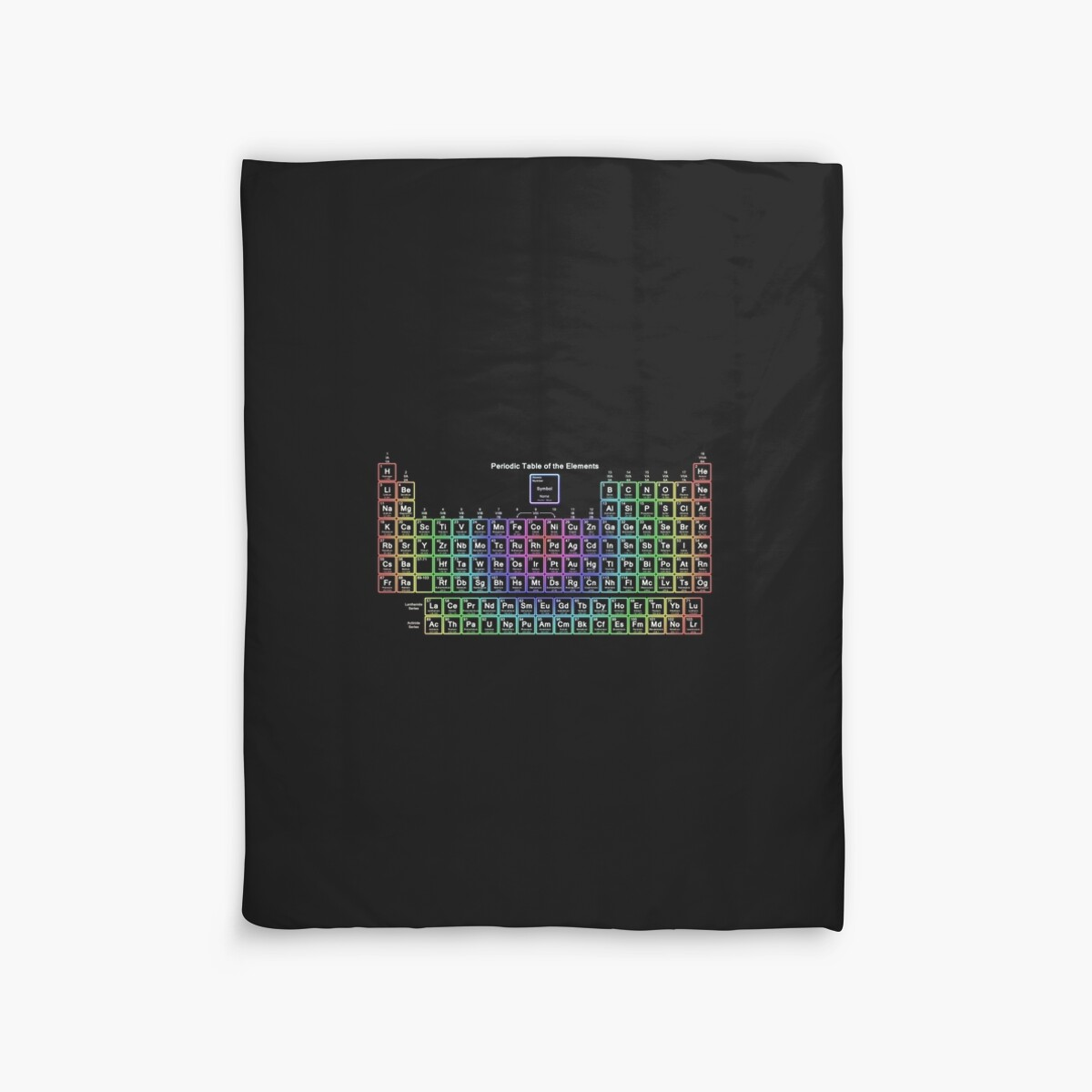 Neon rainbow periodic table duvet covers by sciencenotes redbubble neon rainbow periodic table by sciencenotes gamestrikefo Images