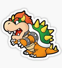 Paper Bowser Sticker