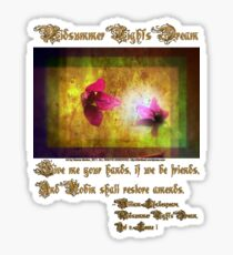 marriage of Titania; Salmon berry floral duet Sticker