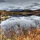 Loch Drumbeg  and Quinag by Alexander Mcrobbie-Munro