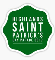 Saint Paddy's Parade Green/White Block Sticker