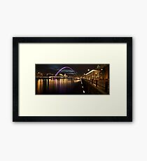 The Millenium Bridge Panoramic Framed Print