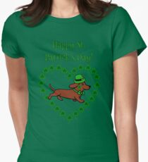 St. Paddy Red Smooth Dachshund T-Shirt
