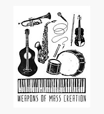 Weapons Of Mass Creation - Music Photographic Print