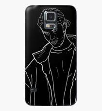 Dead Boy Outline Black Case/Skin for Samsung Galaxy