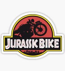 JURASSIC BIKE vintage motorcycle Sticker