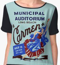 Retro Musical theatre Carmen advertising Chiffon Top