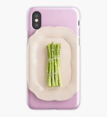 Fresh green asparagus iPhone Case/Skin