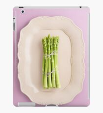 Fresh green asparagus iPad Case/Skin