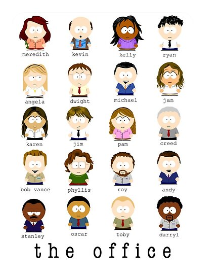 The Office Cartoon Characters Posters By Rb12345 Redbubble