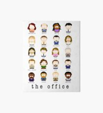 The Office Cartoon Characters Art Board