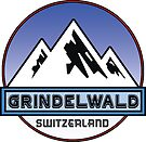 GRINDELWALD SWITZERLAND Mountain Skiing Ski Snowboard Snowboarding by MyHandmadeSigns