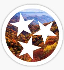 Smoky Mountains Fall Tennessee Tri Star Sticker