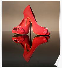 Red Stiletto Shoes Poster