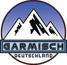 Ski Garmisch Deutschland Bayern Skiing Ski Mountain Bavaria Hiking Climbing by MyHandmadeSigns