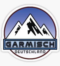 Ski Garmisch Deutschland Bayern Skiing Ski Mountain Bavaria Hiking Climbing Sticker