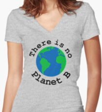 There is no Planet B Women's Fitted V-Neck T-Shirt
