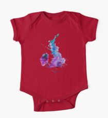 UK map in Watercolours One Piece - Short Sleeve