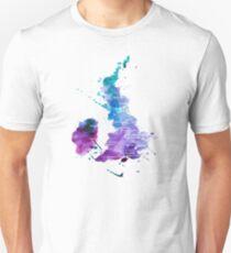 UK Karte in Aquarelle Slim Fit T-Shirt