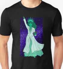 Lady Liberty as a Scientist Unisex T-Shirt