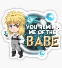 Jareth, the goblin chibi Sticker