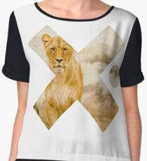 Lion Mother - Wild Free Graceful African Female Lioness - Cool Wild Animals Design  Women's Chiffon Top
