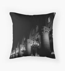 The halls of Notre Dame Throw Pillow