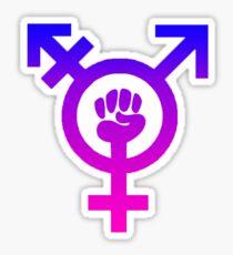 Trans Power Icon Sticker