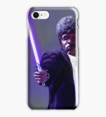 Sam L. Jackson with a lightsaber iPhone Case/Skin