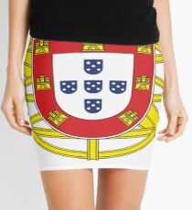 Original Portuguese National Seal Design Mini Skirt