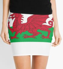 Wales Flag & Crest Football Deluxe Design Mini Skirt
