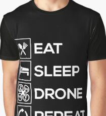 Eat Sleep Drone Repeat Graphic T-Shirt