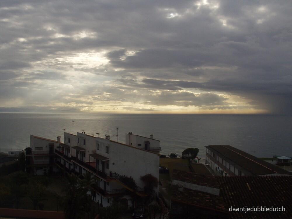 sunset from costa del sol by daantjedubbledutch