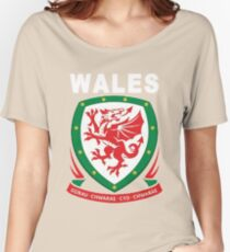 Wales National Football Game Theme Women's Relaxed Fit T-Shirt