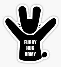 Furry Hug Army Rabbit Sticker