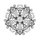 VICTORIAN flower, beautiful floral pattern by Boxzero
