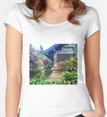 Chiang Mai Temple Garden Women's Fitted Scoop T-Shirt