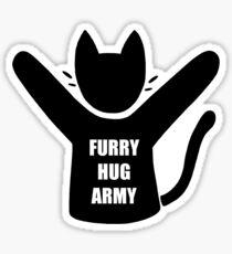 Furry Hug Army House Cat Sticker
