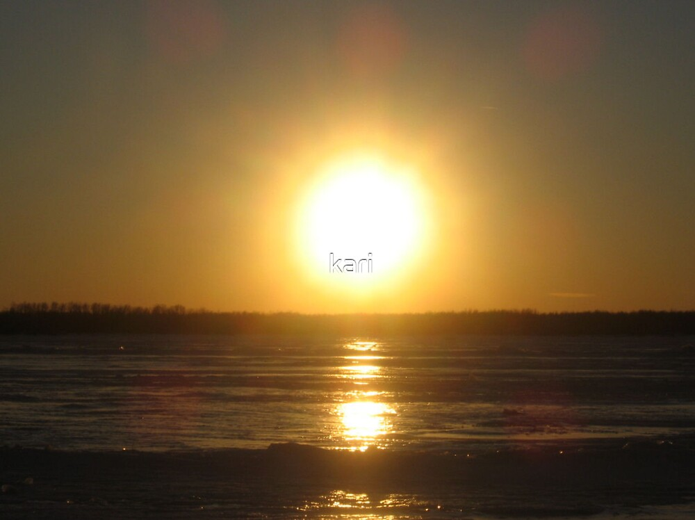Frozen sunset by kari