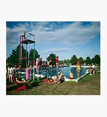 Grandview Hotel in Moodus Connecticut 1960's Outdoor Pool  Photographic Print