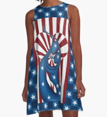 United In The 'States' Of Love And Liberty. A-Line Dress