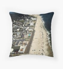 Rehoboth Beach Delaware's Beach & Boardwalk 1960's Airview  Throw Pillow