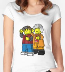 Back To The Future Lego Women's Fitted Scoop T-Shirt