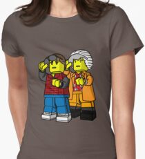 Back To The Future Lego Womens Fitted T-Shirt