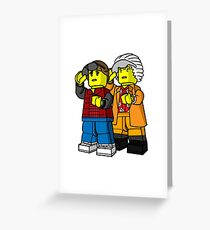 Back To The Future Lego Greeting Card