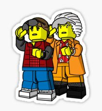 Back To The Future Lego Sticker