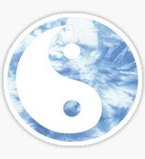 tie dye yin and yang Sticker